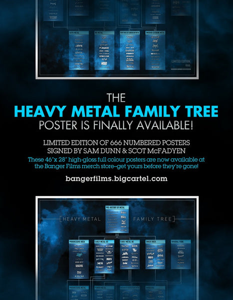 Heavy Metal Family Tree poster