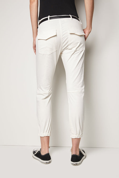 Cropped French Military Pant in Eggshell