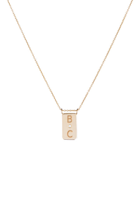 'XOXO' Necklace in Yellow Gold