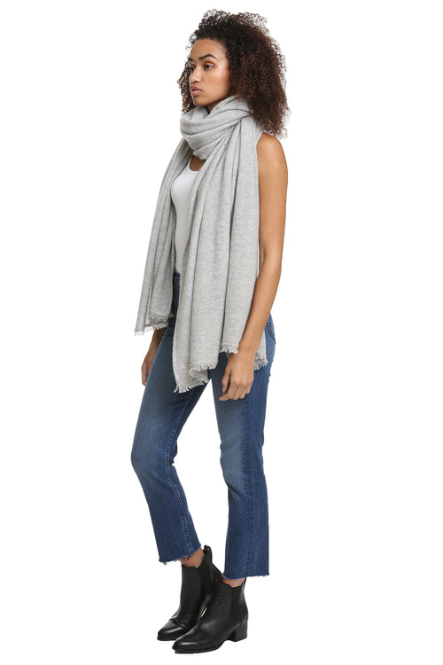 Nadine Scarf in Light Heather Grey