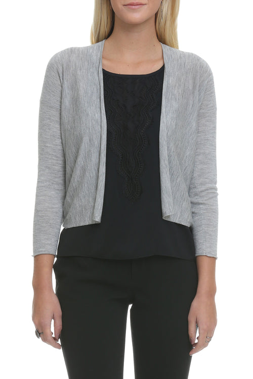 Easy Crop Cardigan in Gray