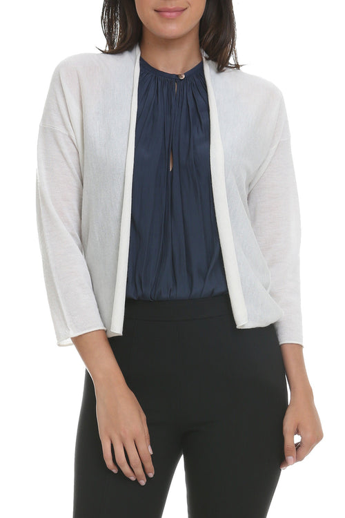 Easy Crop Cardigan in Cream