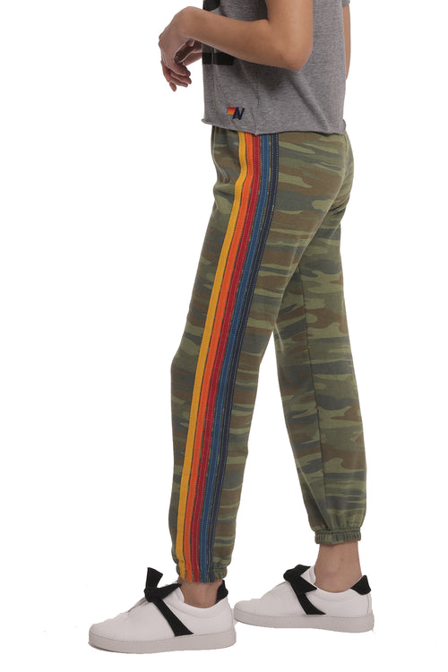 5 Stripe Sweatpants in Camo
