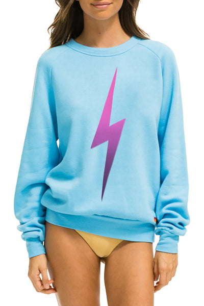 Bolt Sweatpants in Rainbow Pink