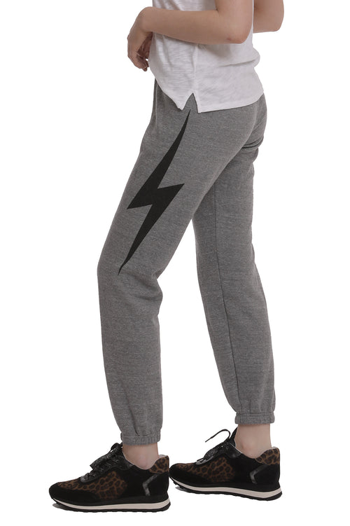 Bolt Sweatpants in Heather Gray