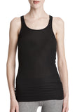 Modal Ribbed Boy Tank in Black