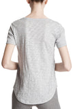 Slub Jersey V-Neck Tee in Heather Grey