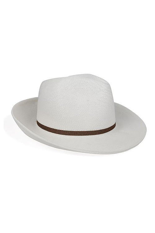Fine Fedora in White Tobacco