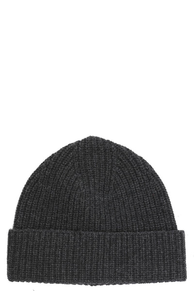 Shaker Stitch Cuffed Hat in Anthracite