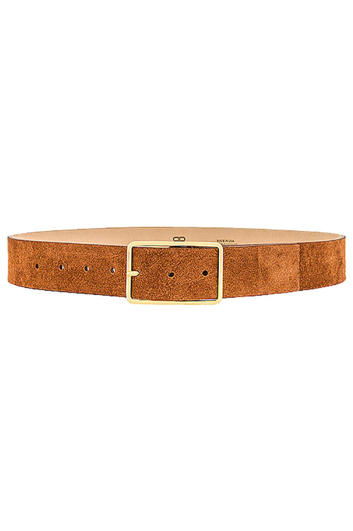 Milla Suede Belt in Cognac Gold