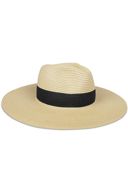 Fine Classic Continental Hat in Natural Black