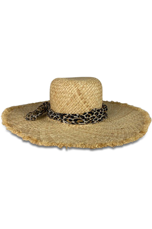 Beachcomber Sunhat in Natural Leopard