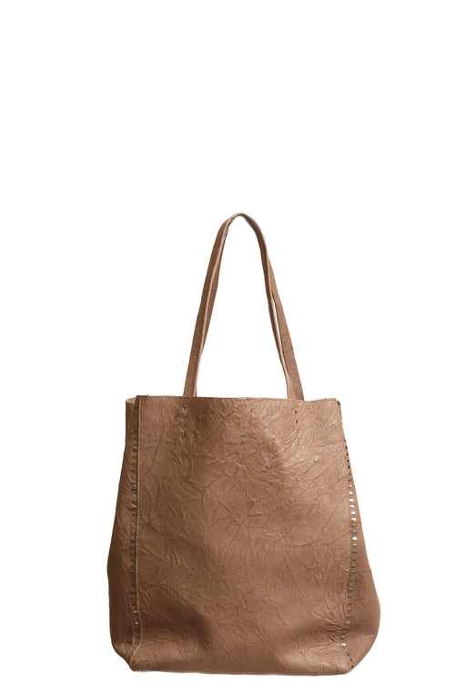 Dannie Tote with Staples in Taupe