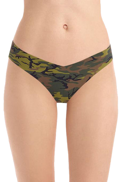 Classic Print Thong in Camo
