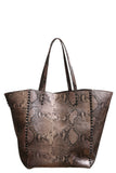 Dannie P Tote in Rose Gold Snake