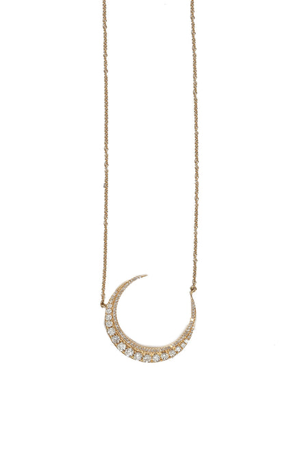 Pave Diamond Tube Necklace