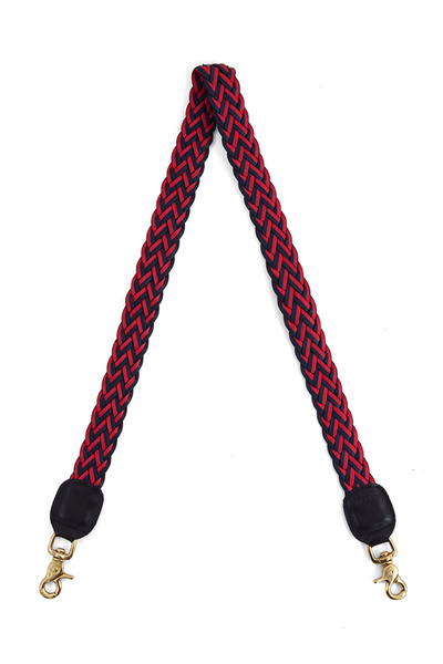 Crossbody Strap in Red Navy