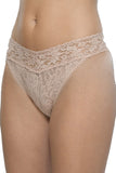 Signature Lace Original Rise Thong in Chai