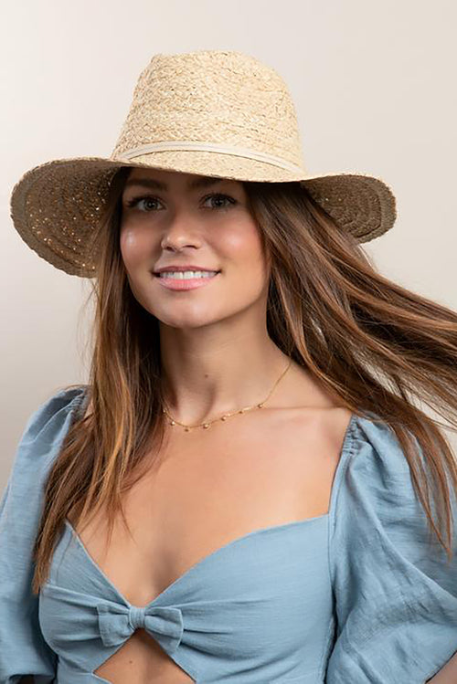 Emma Rancher Hat in Natural Tan