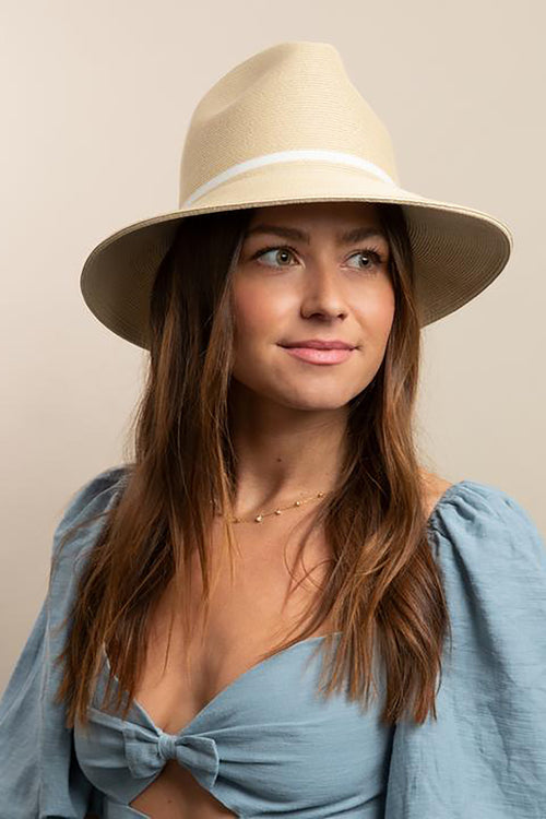 Fine Fedora in Natural White