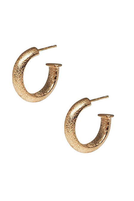 14K Mixed Gold Italian Made Hoops