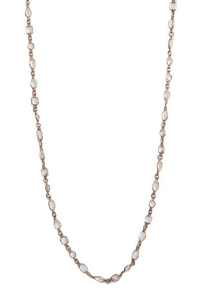 Rose Gold Topaz Layering Necklace
