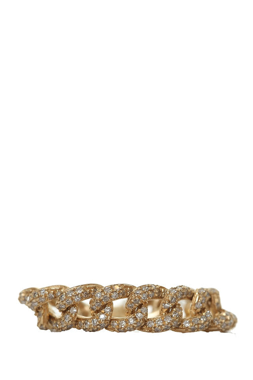 14K Gold Curb Link Ring