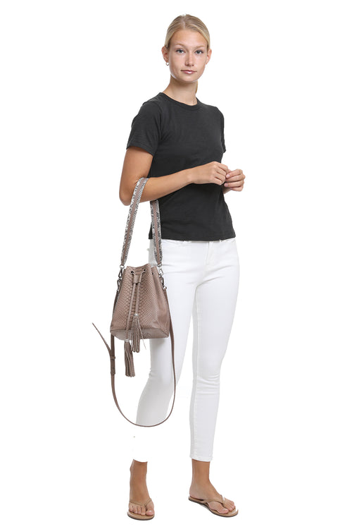 Bree Bucket Bag in Tan