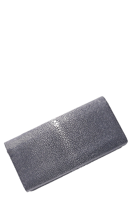 Mara Flat Bottom Clutch in Navy