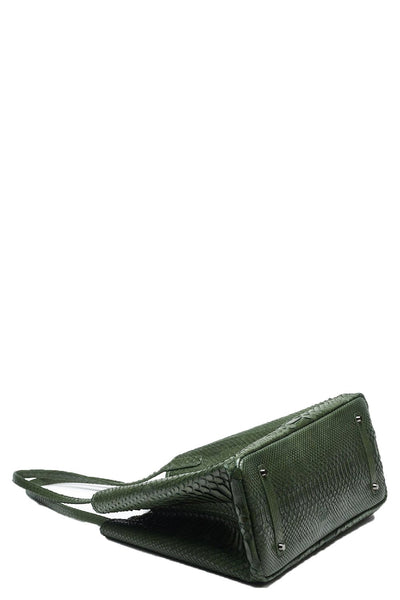 Stevie Python Tote in Sage Green