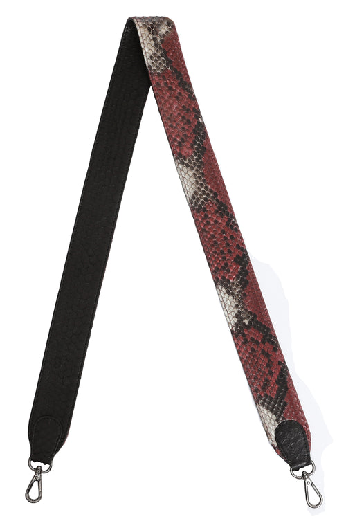 Asher Strap in Black and Garnet Motif