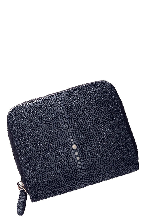Sal Small Zip Wallet in Navy