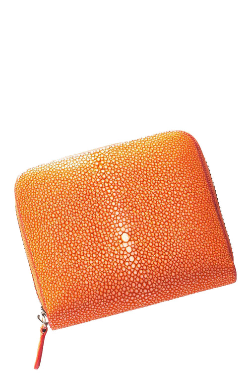 Sal Small Zip Wallet in Orange