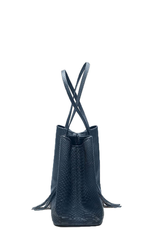 Stevie Python Tote in Blue Jean
