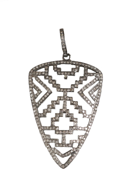 Pave Diamond Arrow Head Pendant