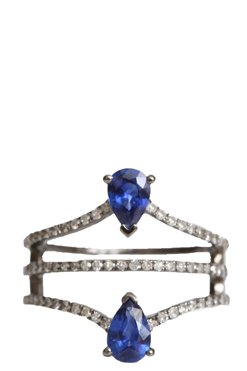 Double Sapphire Ring