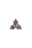 14K Rose Gold Diamond Cluster Stud