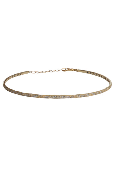14K Yellow Gold Diamond Choker