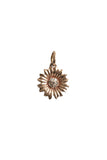 14K Rose Gold Diamond Flower Charm