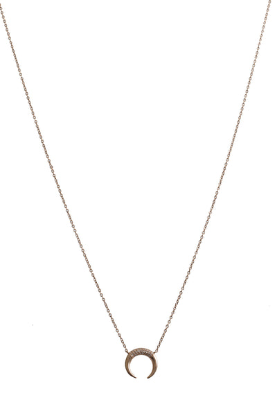14K Rose Gold with Diamond Horn Necklace