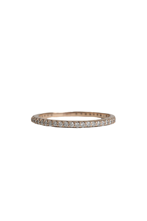 14K Rose Gold Half Diamond Surround Eternity Band
