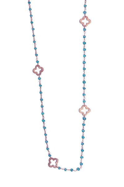 Chalcedony Clover Necklace