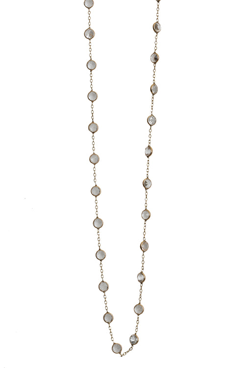 14K Yellow Gold Precious Topaz Necklace