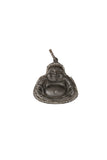Oxidized Matte Diamond Buddha Belly Pendant