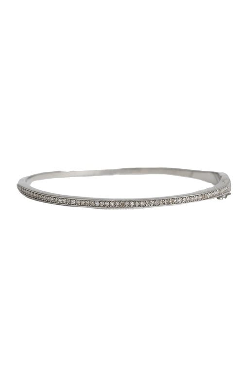 Single Row Diamond Bangle