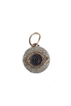 14K White Gold & Rose Gold Diamond Evil Eye Pendant