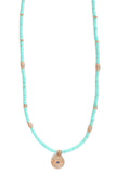 Turquoise Necklace with Evil Eye