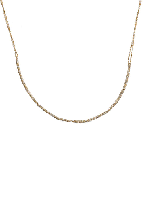 14K Yellow Gold Pave Diamond Soft Collar