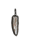 Oxidized Pave Diamond Mother of Pearl Pendant