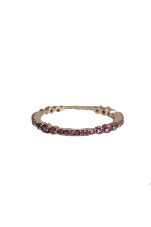 14K Rose Gold Multi Size Ruby Eternity Band